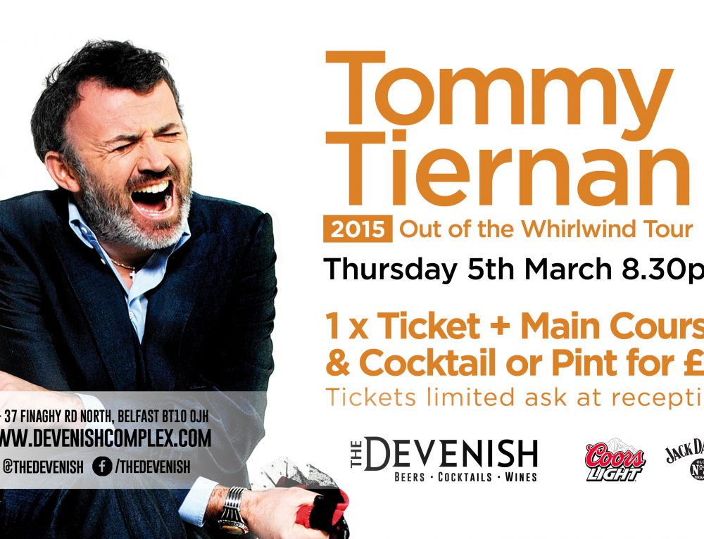 Tommy Tiernan – Out of the Whirlwind tour